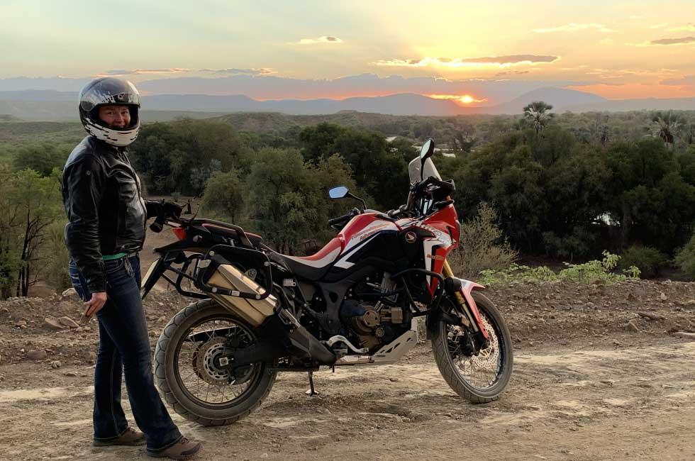 Honda Africa Twin en Namibie