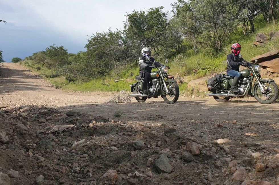 voyage moto royal enfield namibie