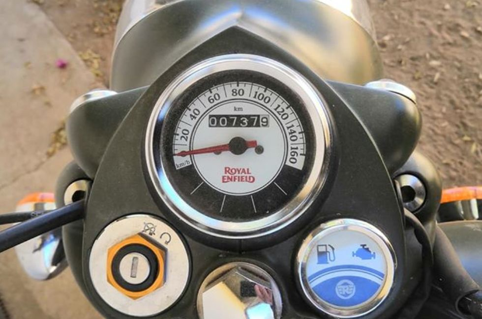 Royal Enfield In Namibia - Instrument Cluster