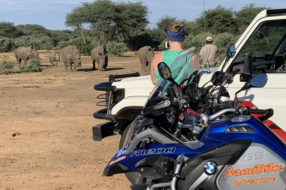 safari moto namibie